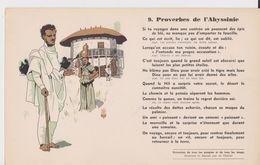 BUVARD EPAIS PROVERBES DE L'ABYSSINIE  N°9 - Otros