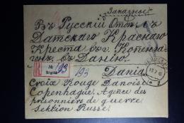 Russia: Registered Cover Regiza 1916 To Red Cross Copenhagen Censor Cancelled - 1857-1916 Empire