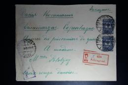 Russia: Registered Cover Petrograd 1916 To Copenhagen Strip Of  2 Censor Cancelled - 1857-1916 Empire