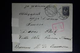 Russia: Cover Wladiwostok 1915 To Davos Platz Switserland  Censor Cancels + Primitive Strips - 1857-1916 Empire