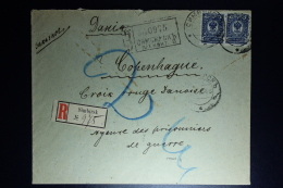 Russia: Registered Cover Simbirsk 1916 To Red Cross Copenhagen  Censor Cancelled - 1857-1916 Empire