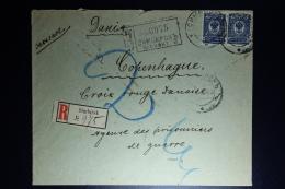 Russia: Registered Cover Simbirsk 1916 To Red Cross Copenhagen  Censor Cancelled - Briefe U. Dokumente
