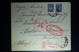Russia: Registered Cover Vologda 1914 2x Reg Labels To Stockholm Red Cross - 1857-1916 Empire