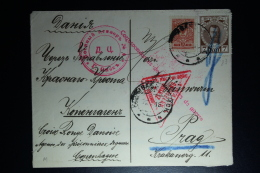 Russia: Cover Tomsk Civil Camp To  Copenhagen -> 1916 To Praag Censor Cancelled Mixed Stamps - 1857-1916 Empire