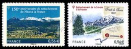 Francia / France 2010: 2 Val. Nizza E Savoia Autoadesivi / Nice And Savoy To France, 2 Self-adhesive Stamps ** - Frankreich