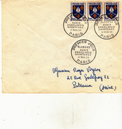 Blasons Sur Lettre  En 1954 ( Premier Jour) - Marcofilia (sobres)