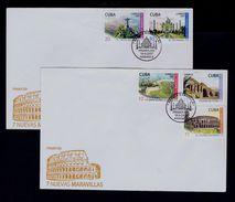 Petra City Coliseo De Roma ITALY Taj Mahal INDIA Cristo BRAZIL Redentor Grande Muraille De Chine CUBA (2)fdcover Sp4784 - Other