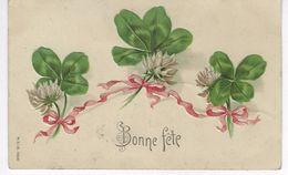 CPA FANTAISIE ( Bonner Fete ) - Fleurs, Chardon , Ruban ....gaufrée - Fantaisies