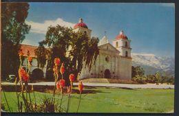 °°° 7889 - CA - SANTA BARBARA - MISSION - 1961 With Stamps °°° - Santa Barbara