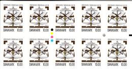 Denmark MNH 2015 Booklet Of 10 10k Copenhagen Carpenters' Guild 500 Years - Danemark