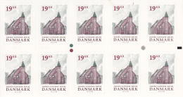 Denmark MNH 2016 Booklet Of 10 19k Maribo Cathedral 600 Years - Denmark