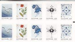 Denmark MNH 2016 Booklet Of 10 2 Each Of 5 8k Porcelain Designs - Danemark