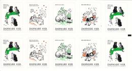 Denmark MNH 2016 Booklet Of 10 2 Each Of 5 8k Children's Songs - Danemark