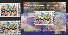 EUROPA/CEPT 1956-2006 GEORGIA 507,511+Block 35 ** 5€ Imperf. Hojitas Stamps On Stamp S/s Bloc Sheet Bf Philatelics - Emissions Communes