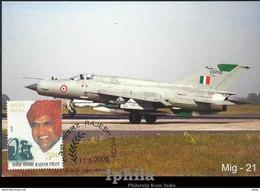 Rajesh Pilot 2008 Max Card Maximum Indian Air Force Indien Inde Flugzeug Luft Avion Airplane Aviation Luftwaffe Headgear - Airplanes