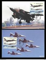 16 Squadron Max Card Indian Air Force 2005 Indien Air Flugzeug Luft Avion Airplane Aviation Luftwaffe Jaguar Maximum - Airplanes