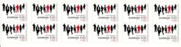 Denmark MNH Scott #B100a Booklet Of 12 8k + 50o Eight People - Danish Rheumatism Assn - Danemark