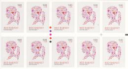 Denmark MNH Scott #B106a Booklet Of 10 9k + 50o Girl's Head - Save The Children Fund - Danemark