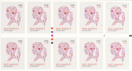 Denmark MNH Scott #B106a Booklet Of 10 9k + 50o Girl's Head - Save The Children Fund - Carnets