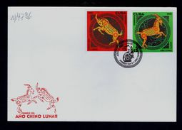 Year Lunar Chinese Chine Chèvre Goat 2003 Animals Faune CUBA Fdcover Nouvel An Chinois Sp4786 - Chinese New Year
