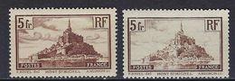 """FR YT 260 & 260a """" Mont-Saint-Michel Type I & II """" 1929-31 Neuf* - Ungebraucht"""