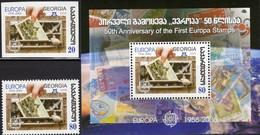 EUROPA/CEPT 1956-2006 GEORGIA 508,512+Block 36 ** 6€ Ansichtskarte Hb Stamps On Stamp S/s Bloc Sheet Bf Philatelics - Emissions Communes