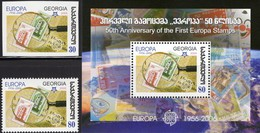 EUROPA/CEPT 1956-2006 GEORGIA 509,513+Block 37 ** 6€ Lupe Hb Stamps On Stamp D/FRANCE S/s Bloc Sheet Bf Philatelics - Emissions Communes
