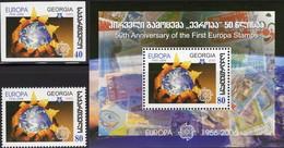 EUROPA/CEPT 1956-2006 GEORGIA 510,514+Block 38 ** 7€ Erdkugel Hb Stamps On Stamp S/s Bloc Sheet M/s Bf Philatelics - Emissions Communes