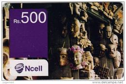GSM MOBILE PHONE PREPAID USED RECHARGE CARD RS.500 NCELL MOBILE NEPAL - Nepal