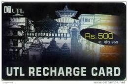 CDMA MOBILE PHONE PREPAID USED RECHARGE CARD RS.500 UTL MOBILE NEPAL - Nepal