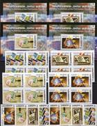 Stamps EUROPA 1956-2006 GEORGIA 507/4,4-Blocks+Bl.35-38 ** 40€ Erdkugel Lupe Hb Blocs S/s Philatelic Sheets Bf CEPT - Georgia