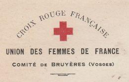 Papier à Lettre Croix Rouge Française / Union Des Femmes De France / Comité De Bruyères 88 Vosges - Other
