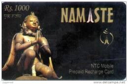GSM MOBILE PHONE PREPAID RECHARGE CARD USED NEPAL TELECOM 2007 NEPAL - Nepal