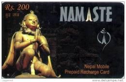GSM MOBILE PHONE PREPAID RECHARGE CARD RS.200 USED NEPAL TELECOM 2008/2010 NEPAL - Nepal