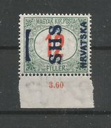 Yugoslavia Kingdom SHS Jugoslawien - Mi.Porto 30F With Wrong Overprint SHS - MNH / ** 1918 Genuine - Portomarken