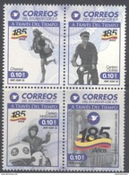 ECUADOR ,MNH, 2016, 185TH ANNIVERSARY OF ECUADOR POST OFFICE, MAILMEN, MOTORBIKES, BICYCLES, 4v - Post