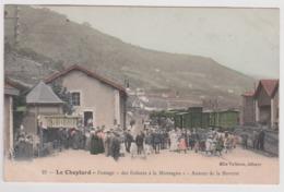 Le CHEYLARD Passage Des Enfants La Buvette La Gare Et Le Train Tramway Ligne De La Voulte Sur Rhone à Dunnieres - Le Cheylard