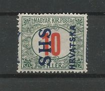 Yugoslavia Kingdom SHS Jugoslawien - Mi.Porto 29F With Wrong Type Overprint Mint / MH / * 1918 - Portomarken