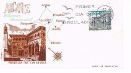 Spanien FDC 1825 Rathaus Von Alcaniz - Architektur - FDC