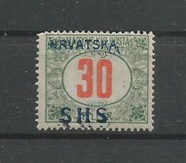 Yugoslavia Kingdom SHS Jugoslawien - Mi.Porto 33DD With DOUBLE Overprint - Mint / MH / * 1918 Short Corner - Portomarken