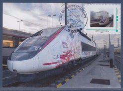 = Mise En Service LGV Sud-Europe Atlantique L'Océane 1/2.7.17 Inauguration Rames Carte Postale - France