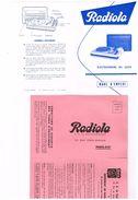 Radiola Paris 19e électrophone RA 2225 Mode Emploi Garantie Avec CP Détachable - Publicités