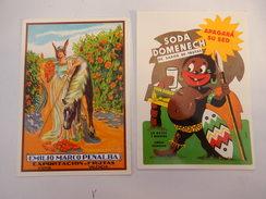 "2 Cartes Pub Espagnol ""spain "" ""exportacion Frutas  "" Soda Domenech  ""   ( Neuve ) 2 Photos - Advertising"
