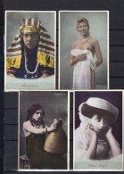 Egypte - Trés Belle Série De 7 Cartes Colorisées  Sur Les Differents Types De Femmes Egyptienne - Egypt