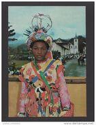 SÃO TOMÉ E PRINCIPE 1960 YEARS AUTO DA FLORIPES STREET THEATRE WOMAN AFRIKA AFRICA AFRIQUE POSTCARD - Sao Tome And Principe