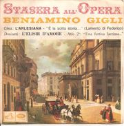 "Beniamino Gigli L'Arlesiana L'elisir D'amore (7"", Single) - Opera"