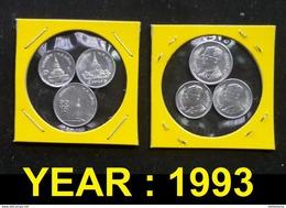 Thailand Coin 1-5-10 SATANG Aluminum Year 1993 - Thailand