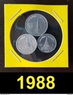 Thailand Coin 1-5-10 SATANG Aluminum Year 1988 - Thailand