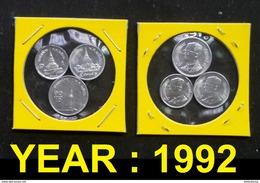 Thailand Coin 1-5-10 SATANG Aluminum Year 1992 - Thailand