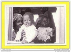 MOZAMBIQUE MOÇAMBIQUE BUS BUSES VIAGEM NO MACHIBOMBO AUTOCARRO VOYAGE TRAVEL BLACK WOMAN & KIDS AFRICA AFRIKA AFRIQUE - Mozambique